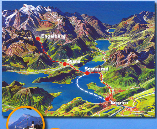 Switzerland Luzern – Lucerne Tourist Map